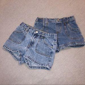 Bundle Of 2 Pairs Of 5T Denim Shorts